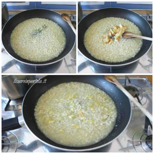 aggiungete i fichi al risotto