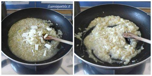 aggiungere formaggio e mantecare