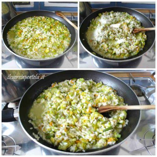 mantecare risotto con burro e formaggio
