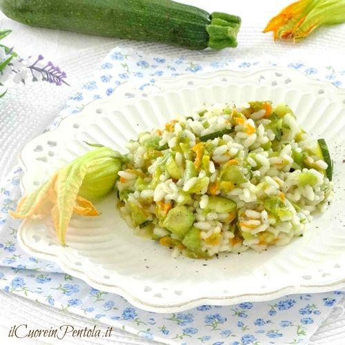 risotto ai fiori di zucca e zucchine