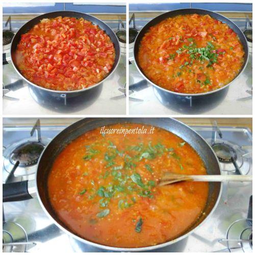 cuocere sugo di pomodoro