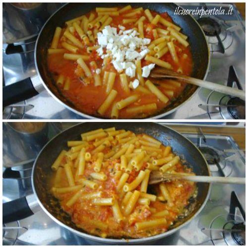 mantecare pasta con il sugo