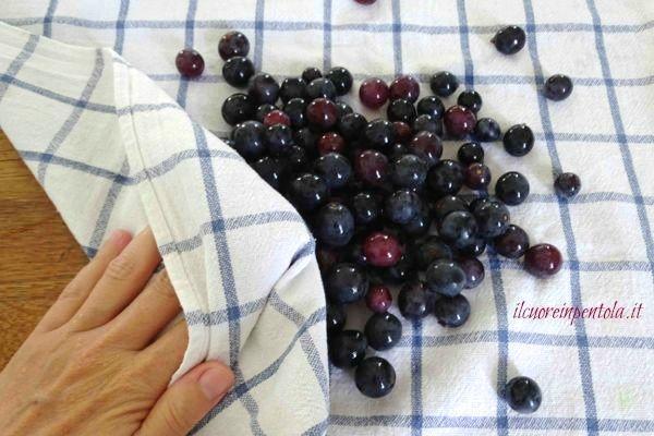 lavare uva