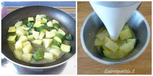 frullare vellutata di zucchine e patate