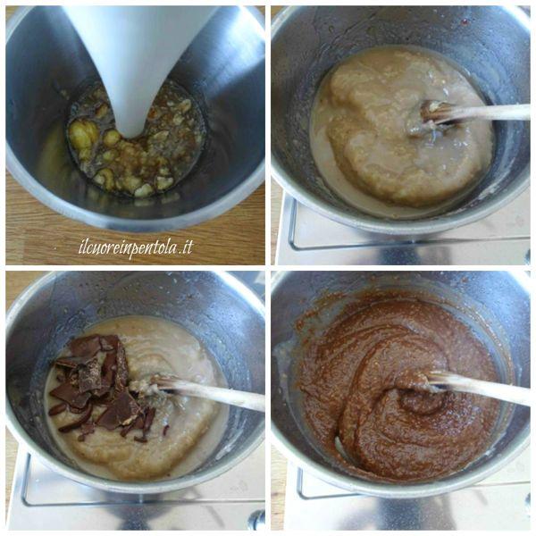 frullare e aggiungere cioccolato