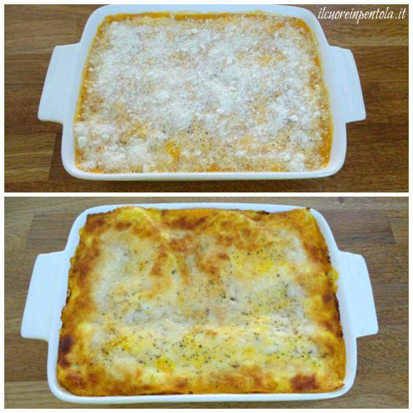 aggiungere formaggio e infornare