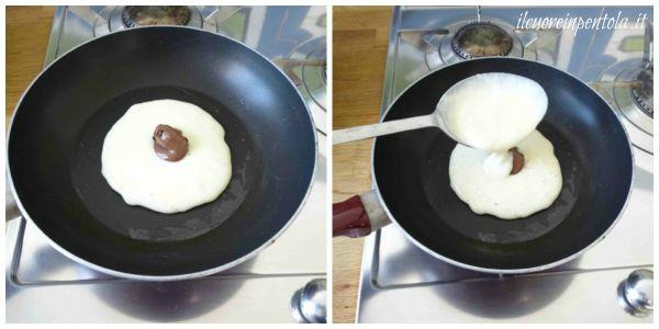 farcire pancake con nutella