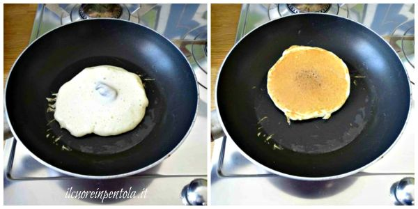 girare pancake alla nutella