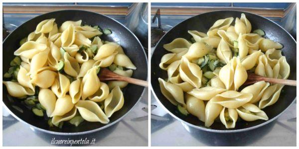 mantecare pasta con le zucchine