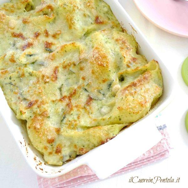 pasta al forno con zucchine