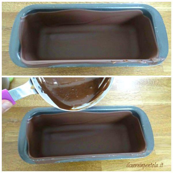 realizzare doppio strato di cioccolato