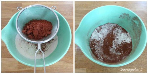 setacciare farina e cacao