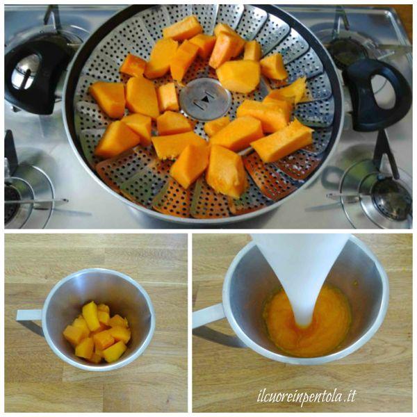 cuocere zucca e frullarla