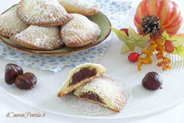 biscotti di pasta frolla e crema di castagne