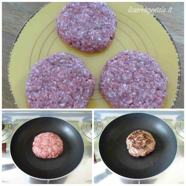 cuocere hamburger in padella
