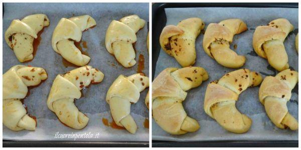 cuocere cornetti di pane