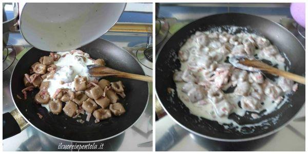 aggiungere crema di gorgonzola