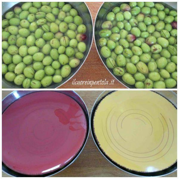 mettere olive in acqua