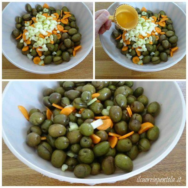 aggiungere carote sedano e aceto