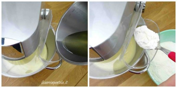 aggiungere olio farina e yogurt