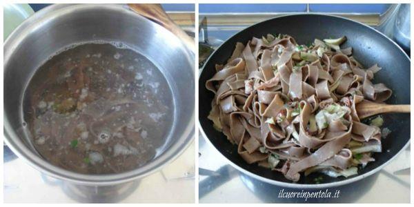 cuocere tagliatelle di castagne