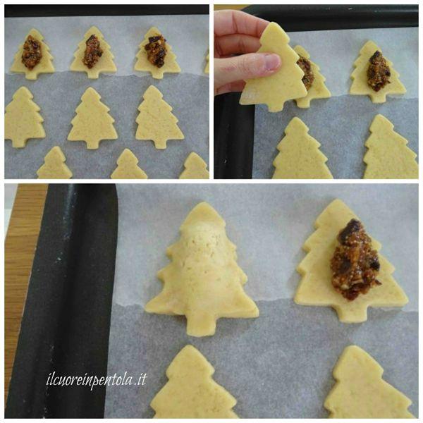 farcire e chiudere biscotti