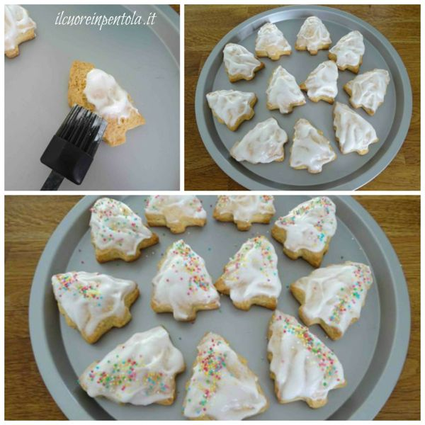 decorare biscotti con glassa