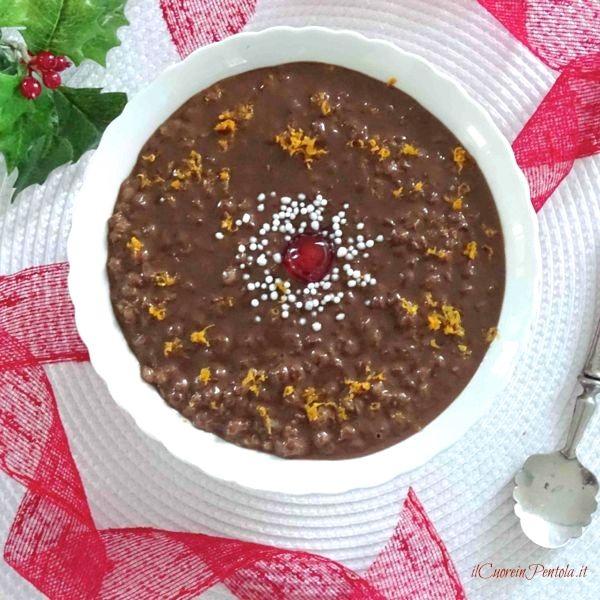 cuccia al cioccolato ricetta