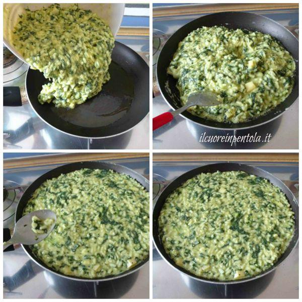 versare il riso nella padella