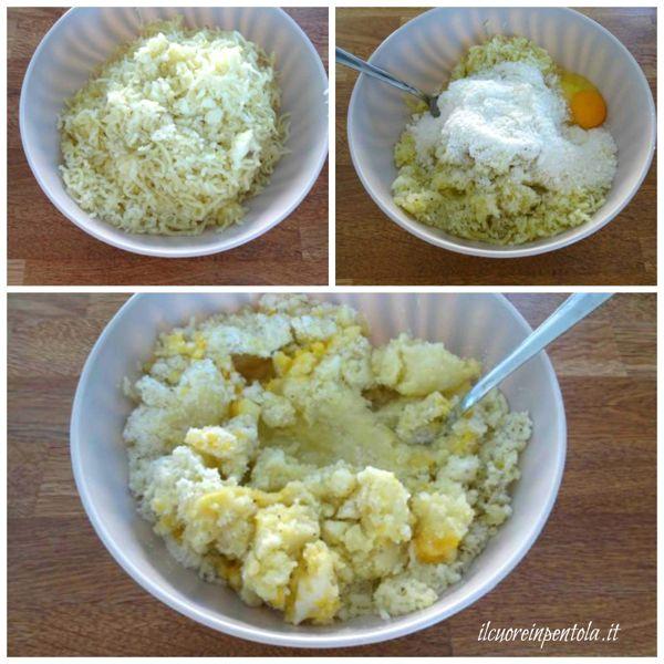 schiacciare patate e condire