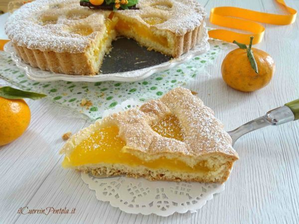 fetta di crostata al mandarino