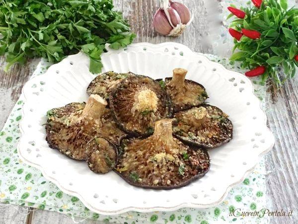 funghi pleurotus al forno