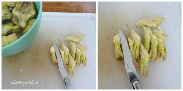 tagliare i carciofi