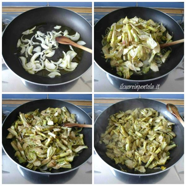 cuocere carciofi in padella
