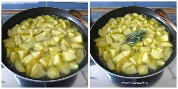 aggiungere acqua e cuocere