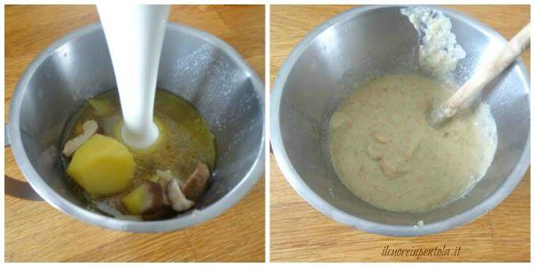 frullare patate e funghi