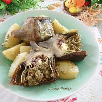 carciofi in umido con patate