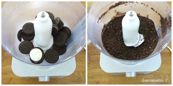 sbriciolare biscotti oreo