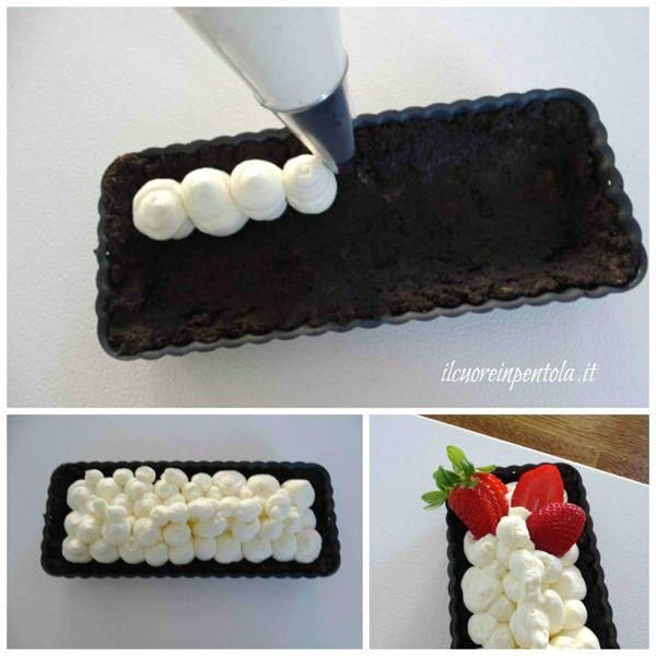 farcire crostata con crema e frutta