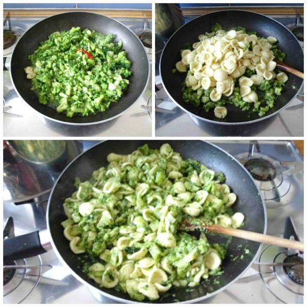 mantecare orecchiette con i broccoli
