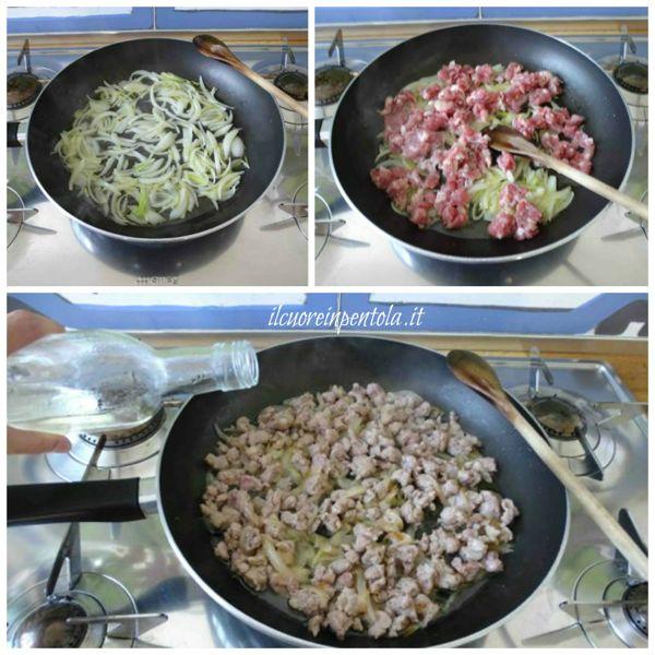 preparare soffritto e aggiungere cipolla
