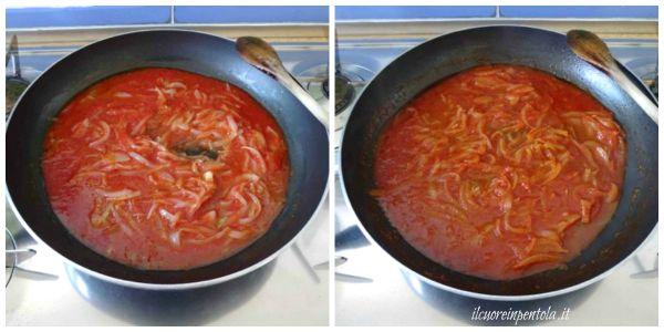 cuocere sugo di cipolle