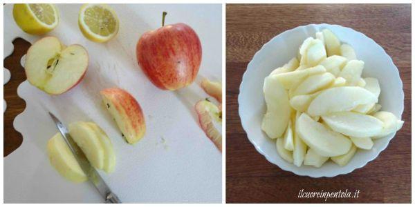 pelare e tagliare mele