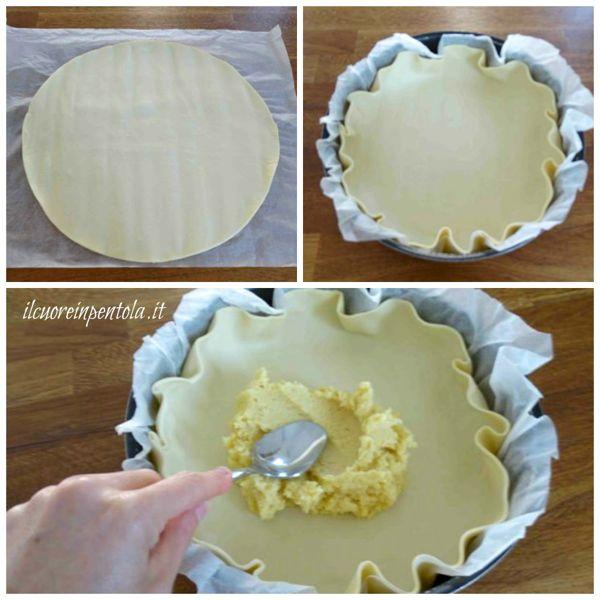 farcire pasta sfoglia con la crema