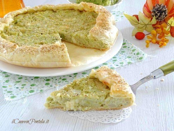 torta salata con cavolfiore