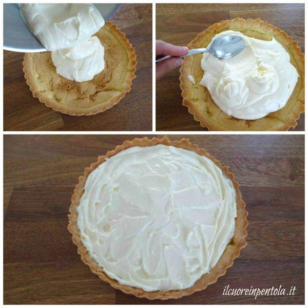 farcire crostata con crema