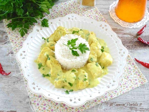 pollo al curry con riso basmati