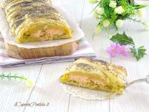 Salmone in crosta di sfoglia