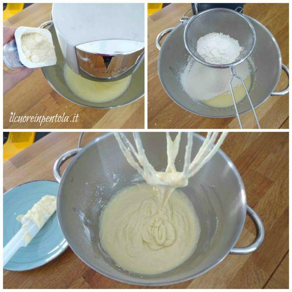 aggiungere formaggio farina e lievito