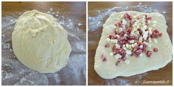 aggiungere salumi e formaggi